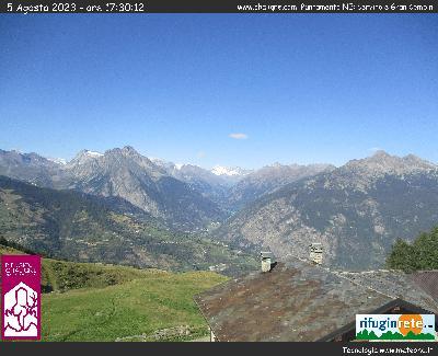 Web Cam rifugio Chaligne Valle d'Aosta