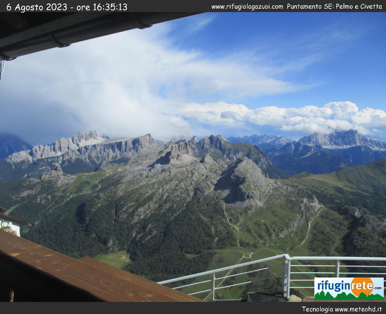 Panorama dal Rifugio Lagazuoi