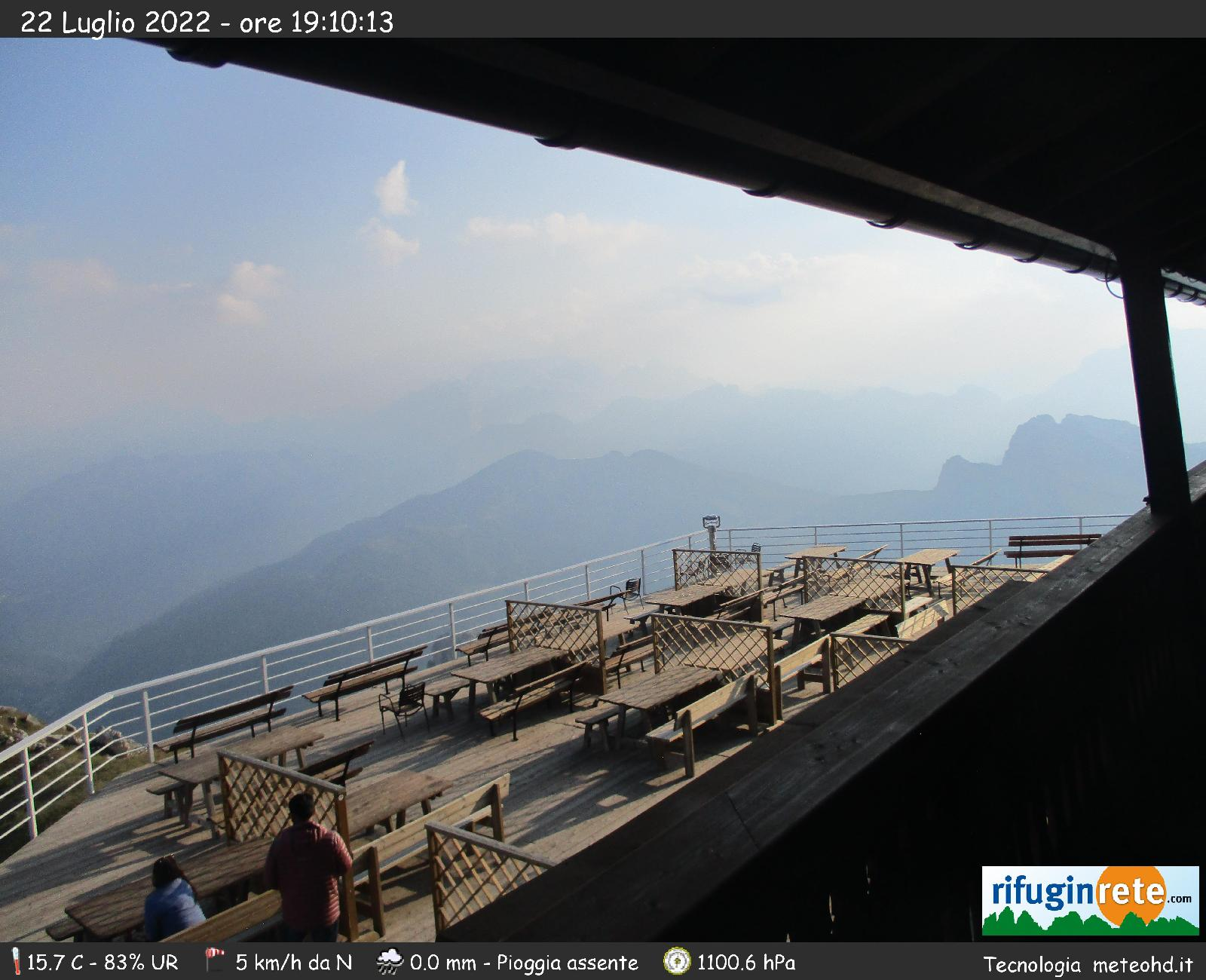 Webcam Marmolada dal rifugio