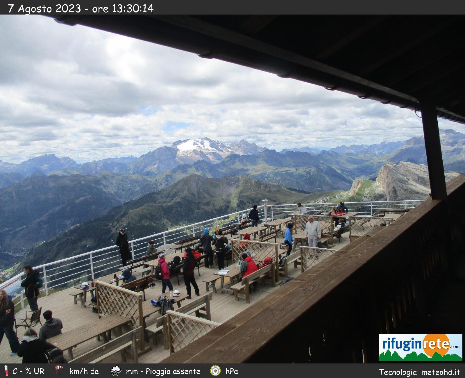 Webcam von der Lagazuoi-Hütte Richtung Marmolata