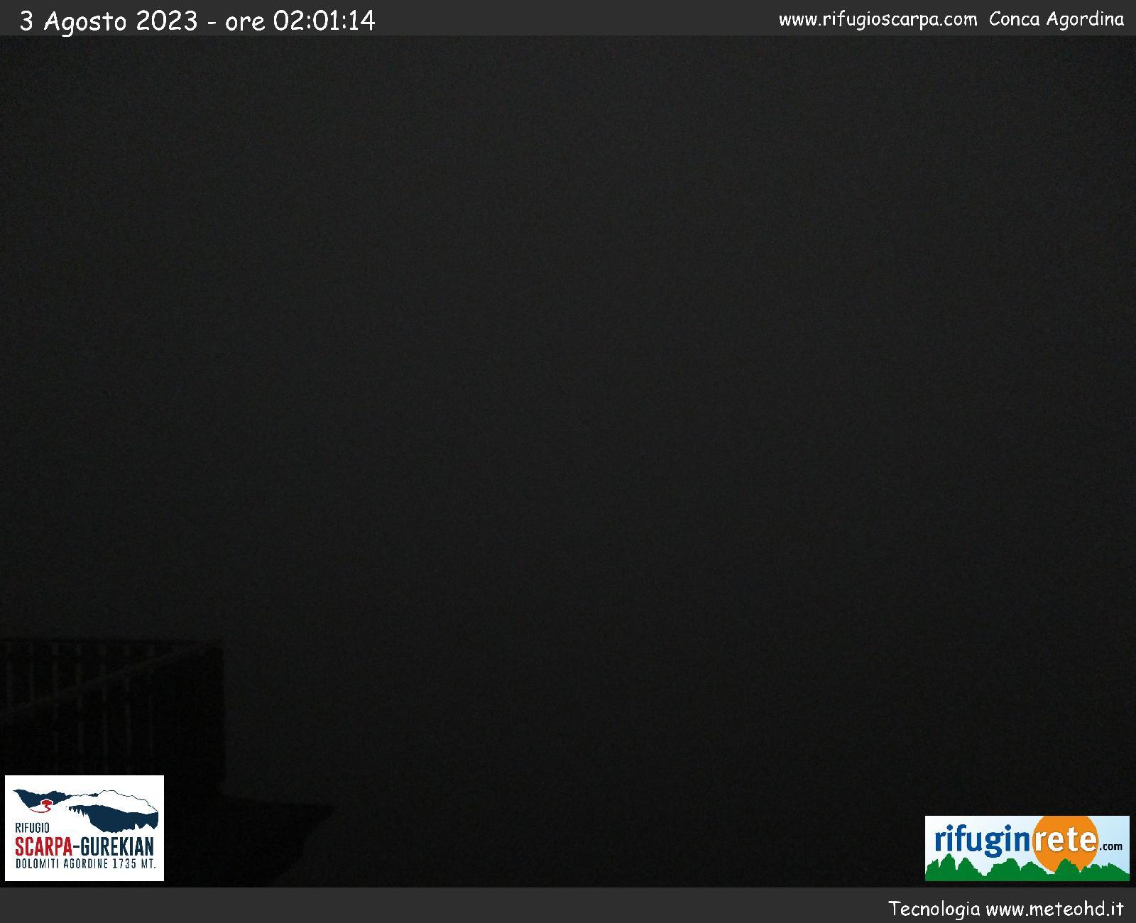 Webcam Monte Agner Rifugio Scarpa Voltago Agordino Frassené