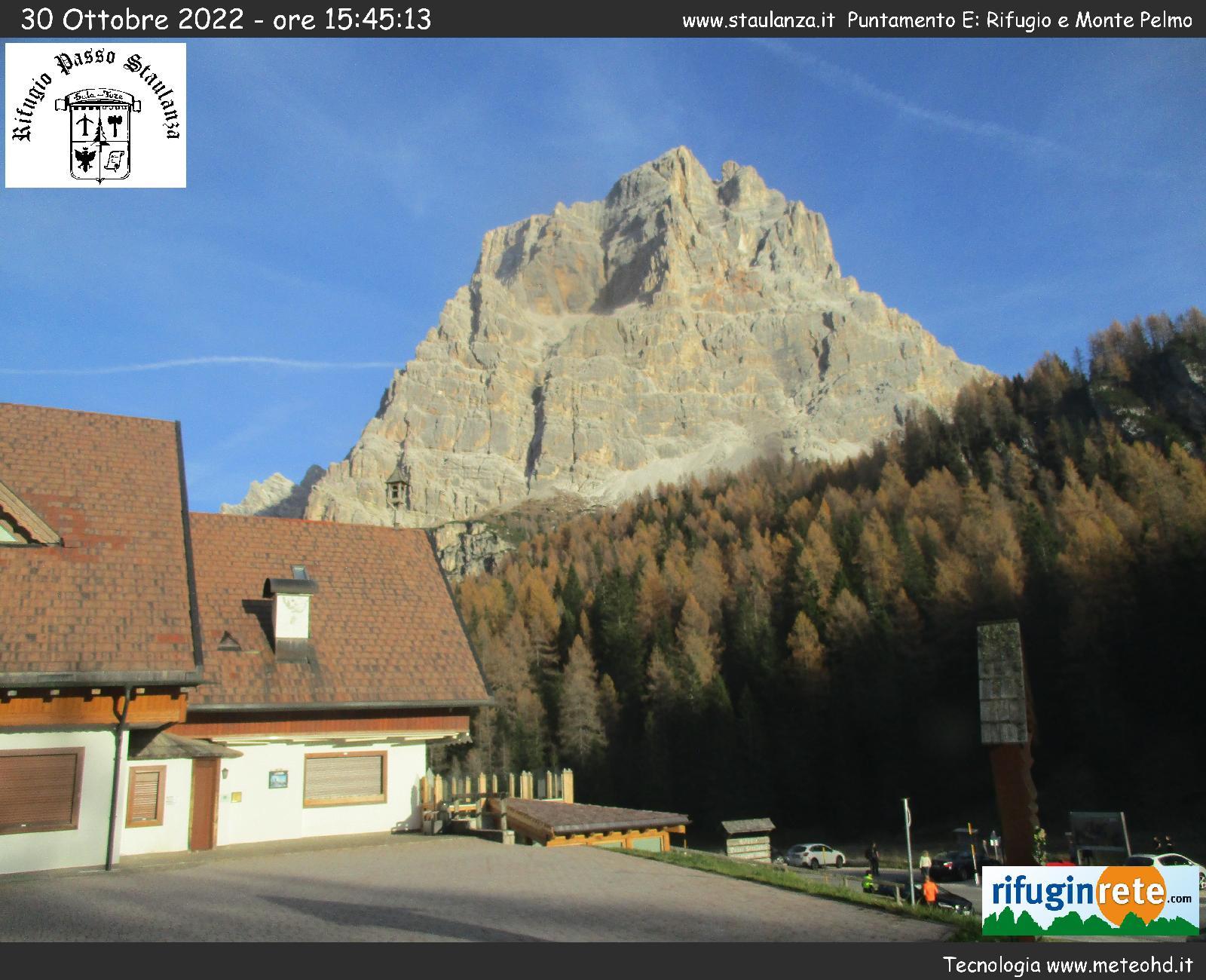 webcam zoldo rifugio passo staulanza